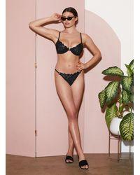 Fleur du Mal Lily Underwire Bikini Top - Black