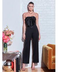 Fleur du Mal Bow Tie Jumpsuit - Black
