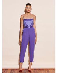 Fleur du Mal Tuxedo Trousers - Purple