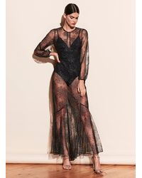 Fleur du Mal Superstar V-neck Mesh Dress - Black