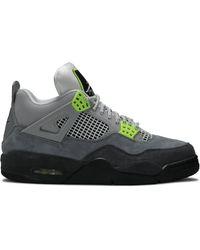 Nike Air 4 Retro Se 'neon' Shoes - Size 8 - Gray