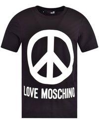 Love Moschino Logo T-shirt Black