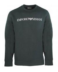 Emporio Armani Ea Logo Black Jumper