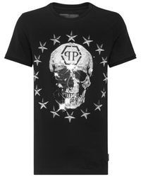 FABRIX Phillip Plein T-shirt Starts Skull Black/silver