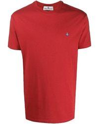 Vivienne Westwood - Round Neck T-shirt Red - Lyst