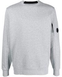 C.P. Company Cp Company Logo Patch Sweater Gray