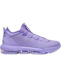 Nike Lebron 16 Low Basketball Shoe - Purple