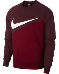 Nike Swoosh Fleece Crew - Red