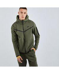 Nike Tech Fleece Full Zip - Grün