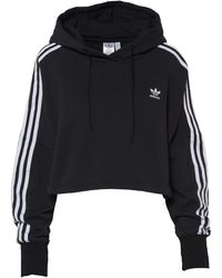 adidas Originals Cropped Hooded Sweatshirt - Black