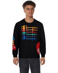 Champion Coca-cola Repeat Long Sleeve T-shirt - Black