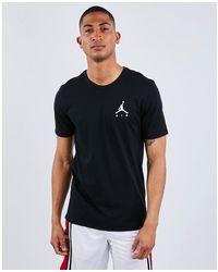 Nike Männer T-Shirt Sportswear Jumpman Air Embroidered - Schwarz