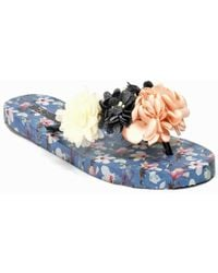 275 Central - Floral Flat Thong - Lyst