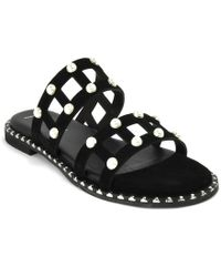 275 Central - Pearl Suede Slide - Lyst
