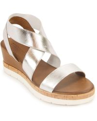 275 Central | Metallic Leather Sandal | Lyst