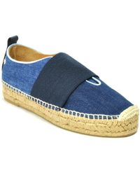 Rag & Bone - Denim Espadrille Slip On Trainer - Lyst