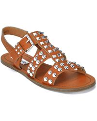 Steve Madden - Leather Studded Sandal - Lyst