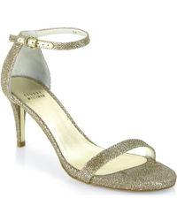 0dd3a9c1fb8290 Lyst - Marc Jacobs Women s Metal-heel T-strap Sandals in Red
