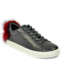 Lola Cruz - Leather Fur Sneaker - Lyst