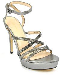 Pelle Moda - Metallic Platform Sandal - Lyst
