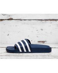 adidas Originals Adilette Slides - Blue