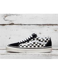 Vans Anaheim Old Skool Checkerboard - Black
