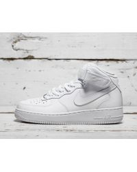 Nike Chaussure Air Force 1 Mid'07 pour - Blanc