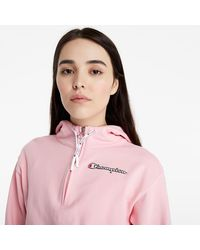 Champion Rochester Logo Hooded Sweatshirt Cnp - Rosa