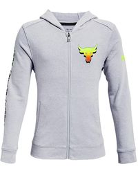 Under Armour Project Rock Y Terry Fz Gray