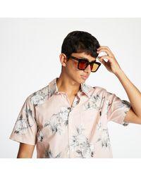 Huf Widower Woven Shirt Plastic Pink - Multicolore