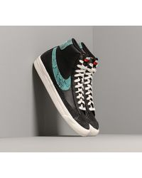 Nike Blazer Mid '77 Vintage We Reptile Black/ Light Aqua-Sail - Schwarz