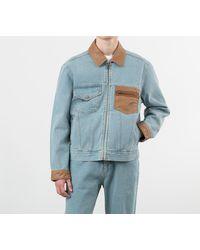 Rassvet (PACCBET) Light Wash Denim Jacket Light Blue - Bleu