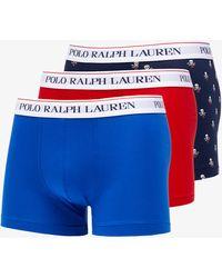 Ralph Lauren Classics 3 Pack Trunks Red/ Navy - Blu