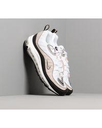 Nike W Air Max 98 White/ Metallic Silver-Desert Sand-Black - Blanco
