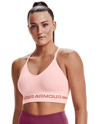 Under Armour Seamless Low Long Bra Pink