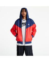 Nike Sportswear Windrunner Hooded Jacket University Red/ Midnight Navy/ White - Blau