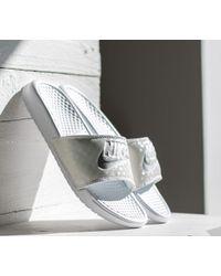 a6e315c0d Lyst - Nike Benassi Jdi Pastel Qs Wmns Pure Platinum  White in White