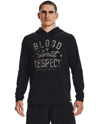 Under Armour - Project Rock Terry Bsr Hoodie Black - Lyst