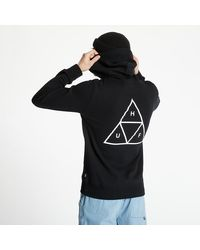 Huf Essentials Triple Triangle Pullover Hood Black - Negro