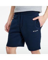 Columbia TM Logo Fleece Shorts Collegiate Navy - Bleu