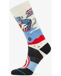 Stance Captain America Marquee Off White - Weiß