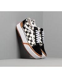 Vans Old Skool Stacked (Checkerboard) Black/ True White - Nero