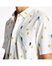 Vans X The Simpsons Houser Short Sleeve Shirt White - Noir