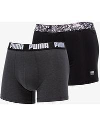 PUMA 2 Pack Everyday Comfort Boxers Black Combo - Nero