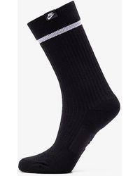 Nike Essential Crew Sneaker Sox Black - Noir