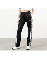 Fila Tao Overlenght Track Pants Black/ Bright White - Negro