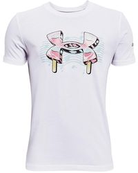 Under Armour Y Sp Popsicle Ss White - Blanc