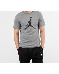 Nike - Jumpman Tee Carbon Heather/ Black - Lyst