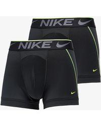 Nike 2 Pack Trunks Black/ Grey/ Volt - Schwarz