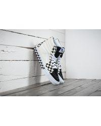 Vans   Sk8-hi (checker Sidewall) Black/ True White   Lyst